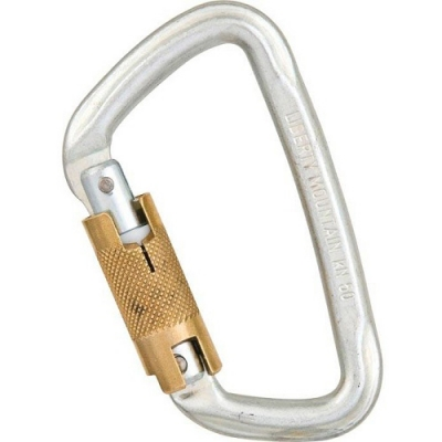 Liberty Mountain Steel Modified 'D' Twist Lock Carabiner