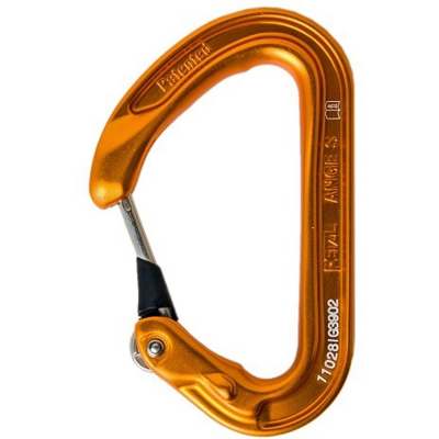 Petzl Ange S Wiregate Carabiner (Orange)
