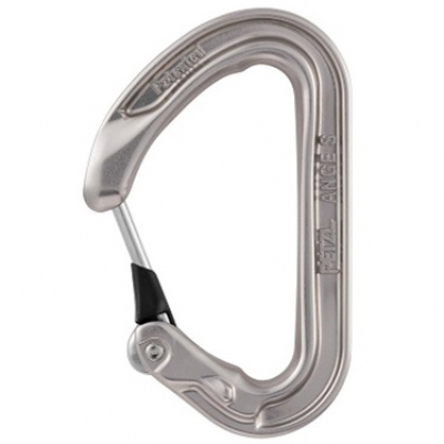 Petzl Ange S Wiregate Carabiner (Light Gray)