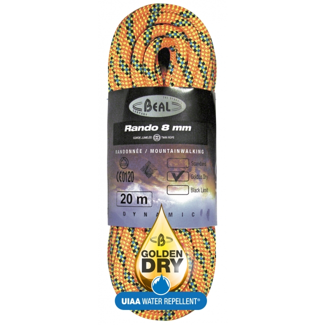 Beal Rando 8mm Twin Golden Dry Rope