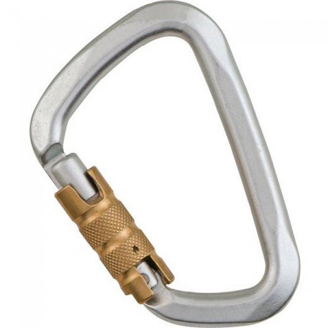 Liberty Mountain Steel Large 'D' 3-Stage Auto Key Lock Carabiner