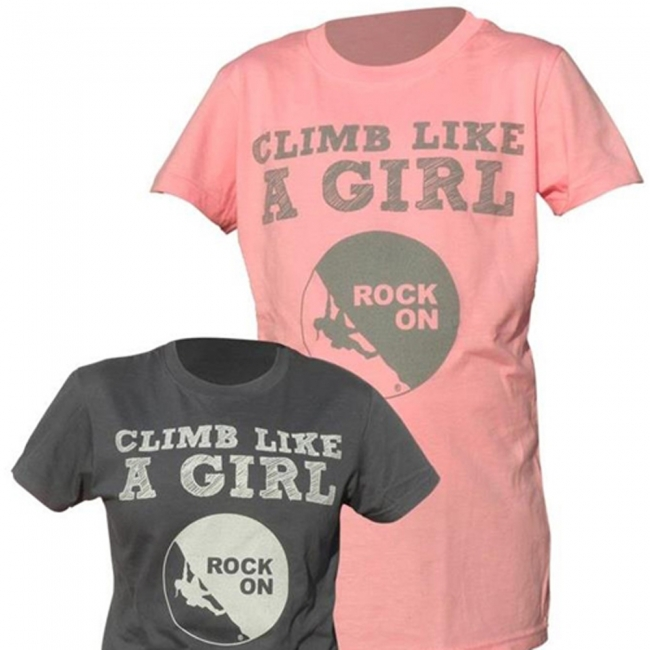 Rock On Women's Climb Like A Girl Tee Shirt