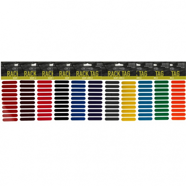 Trango Rack Tags - (Colored Gear Labels) 100/Pack