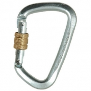 Liberty Mountain Steel Large 'D' Screw Gate Carabiner