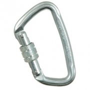 Liberty Mountain Steel Modified 'D' Key Lock Screw Gate Carabiner