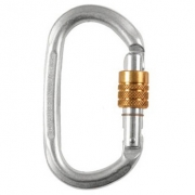 Liberty Mountain Steel Oval Carabiner Keylock Screwgate