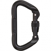 Omega Pacific D Screw-Lok Carabiner - Black