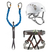 Petzl Via Ferrata Kit with Elios Helmet CLOSEOUT - Size 1