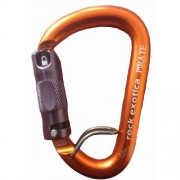 Rock Exotica Pirate Auto-Lock Carabiner with Wire Eye